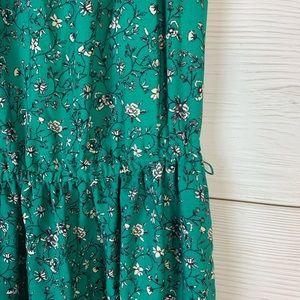 LC Lauren Conrad Dresses - 💜LC Lauren Conrad Green Floral Pleated Dress S